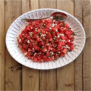 watermelon dish alone
